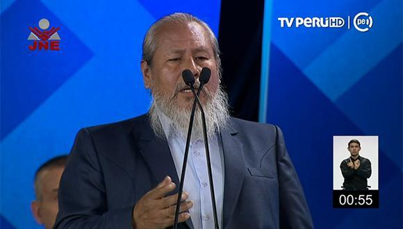 Pablo Silva es el candidato a la alcaldía de Lima por el Frepap. (Foto: TV Perú)