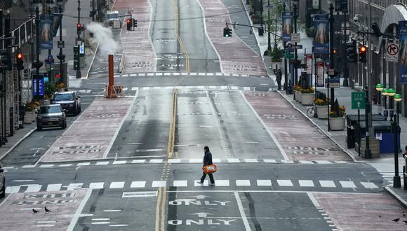 La calles de Nueva York en pleno confinamiento por el nuevo coronavirus. (AFP/TIMOTHY A. CLARY).