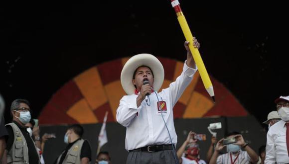 """""""Invoco al Congreso electo que se ponga a disposición del pueblo, de la clase obrera"""", señaló Pedro Castillo. (Foto: GEC)"""