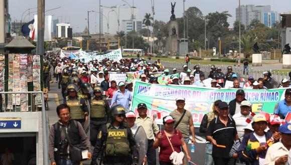 Las movilizaciones también se realizaron en Lima. (Foto: Alessandro Currarino)