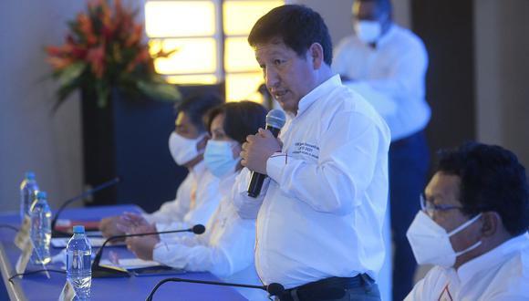Guido Bellido aseguró que los ministros se deben alinear a lo que disponga el presidente Pedro Castillo. (Foto: PCM)
