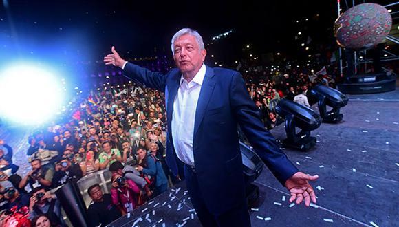 La Bolsa y el peso de México cayeron este lunes tras la victoria en las elecciones presidenciales del izquierdista Andrés Manuel López Obrador (AMLO). (Foto: AFP)