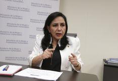 Ministra de la Mujer pide que 'anécdotas' como la contratación de cantante por más de S/ 170,000 se dejan a un lado