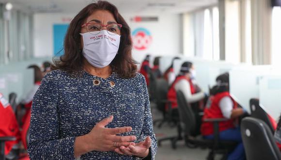 Violeta Bermúdez se presentó este jueves ante el pleno del Congreso, que le otorgó el voto de confianza. (Foto: PCM)