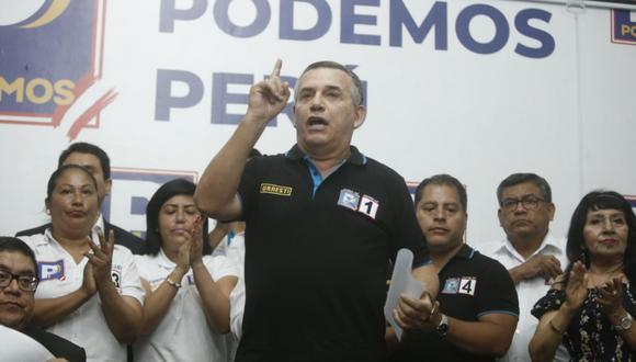Daniel Urresti es el vocero actual de la bancada de Podemos Perú. (Foto: GEC)