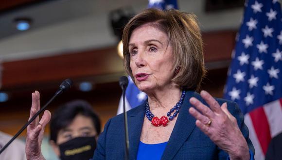 La presidenta de la Cámara de Representantes de EE.UU., la demócrata Nancy Pelosi. (Foto: Shawn Thew / EFE).