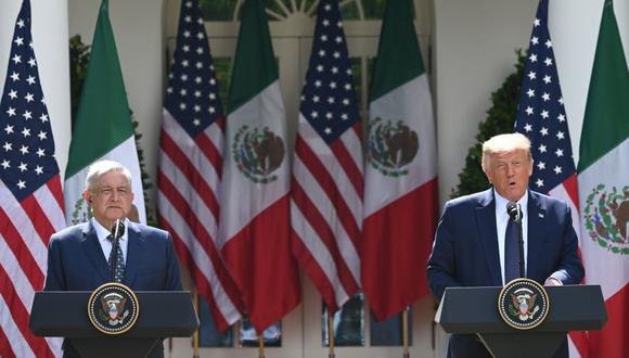 Imagen referencial. AMLO y Donald Trump ofrecen declaración conjunta en Washington. (AFP).