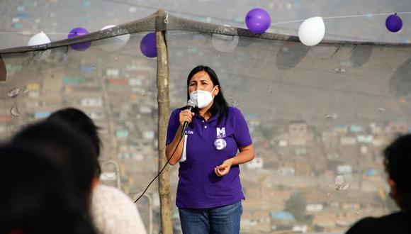 Flor Pablo señaló que hasta el momento el Partido Morado no ha tomado una posición frente a las candidaturas de Pedro Castillo y Keiko Fujimori en la segunda vuelta electoral. (Foto: GEC)