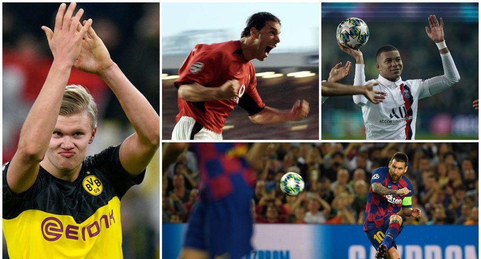 Con Erling Haaland en la lista, conoce a los máximos anotadores en Champions League en sus primeros 30 partidos. (Fotos: AFP)