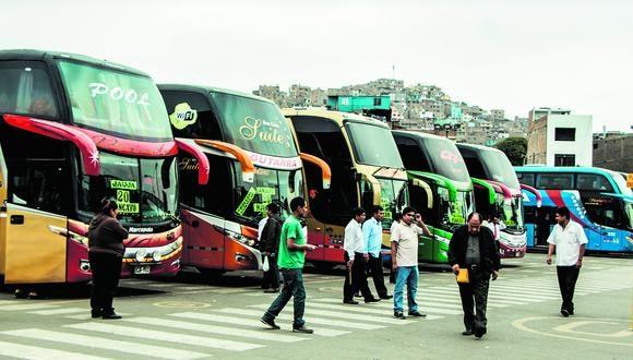 Terminales de buses. MTC implementará medida. (Foto: GEC)