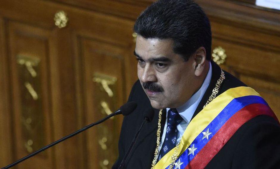 Guaidó, presidente del Parlamento de mayoría opositora, fue liberado una hora después de ser interceptada su camioneta. (AFP)