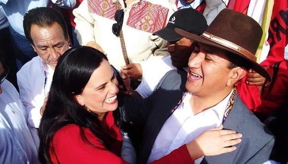 """""""El señor Cerrón tiene su propio rol que cumplir dentro del partido [Perú Libre], cada quien en su ámbito"""", indicó Mendoza. (Foto: GEC)"""
