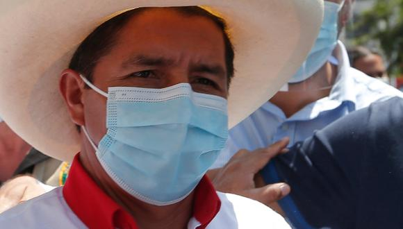 """""""El pueblo tiene que llegar al poder, yo solamente seré una vía"""", señaló Castillo. (Foto: GEC)"""