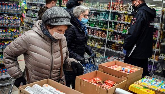 Compras en supermercado (Foto: AFP)