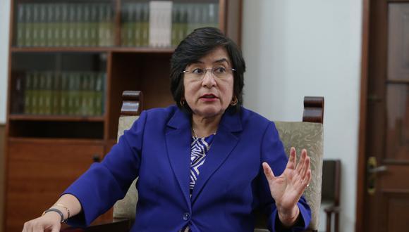 La presidenta del TC, Marianella Ledesma, cuestionó las afirmaciones de Martín Vizcarra sobre las deudas tributarias. (Foto: GEC)