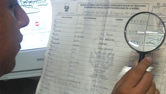 Siguen las denuncias contra Podemos Perú por supuesta falsificación de firmas entregadas a la ONPE. (Foto: Agencia Andina)