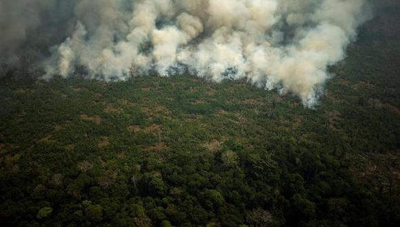 Las verdaderas fotografías del incendio en la Amazonía. (Foto: EFE)