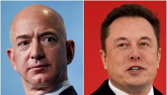 Jeff Bezos y Elon Musk.