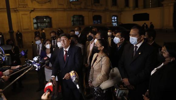 Los congresistas de Perú Libre cuestionaron al nuevo gabinete de Mirtha Vásquez. (Foto: GEC)