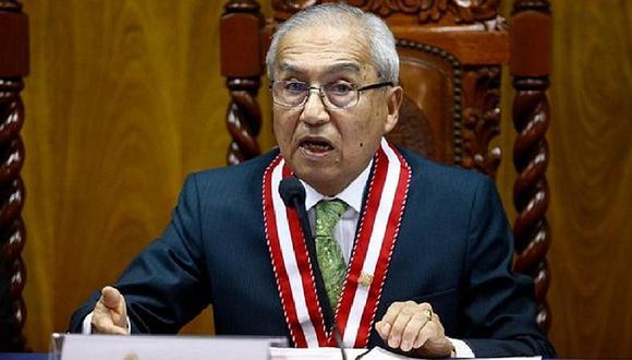 Pedro Chávarry estuvo presente durante la sesión de la Subcomisión de Acusaciones Constitucionales.