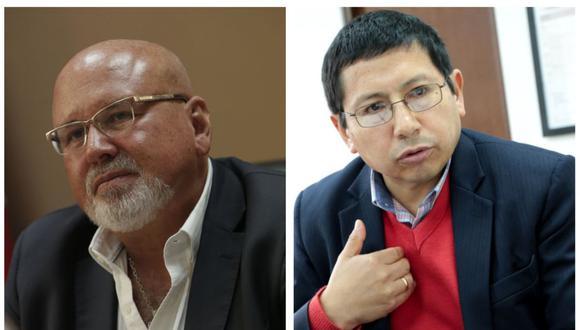 Carlos Bruce, ministro de Vivienda, Construcción y Saneamiento y Edmer Trujillo, ministro de Transportes y Comunicaciones. (Foto: GEC)
