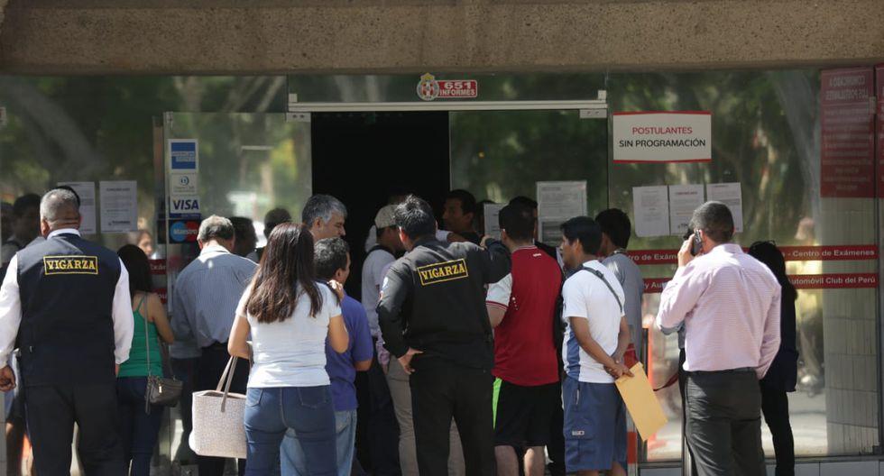 La medida se adoptó luego que se revelara graves omisiones en el sistema de trámite de licencias de conducir. (Fotos: Anthony Niño De Guzmán)