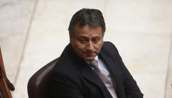 Guillermo Bocángel renunció junto a Kenji Fujimori a Fuerza Popular. Ambos, al igual que Bienvenido Ramírez, fueron suspendidos tras una denuncia constitucional en su contra. (Foto: GEC)
