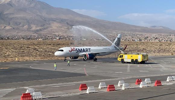 La primera ruta internacional autorizada en el aeropuerto conecta Arequipa con Santiago de Chile. (Foto: difusión)