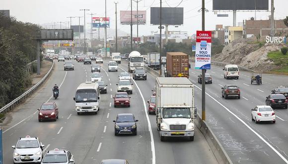 En setiembre de 2020 se observó una progresiva recuperación del tráfico vehicular como resultado de la reanudación de actividades económicas de manera gradual. (Foto: MML)