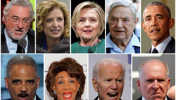 Personajes a los que les enviaron las bombas, entre ellos Robert de Niro, Hillary Clinton, George Soros, Barack Obama, entre otros. (Foto: Reuters)