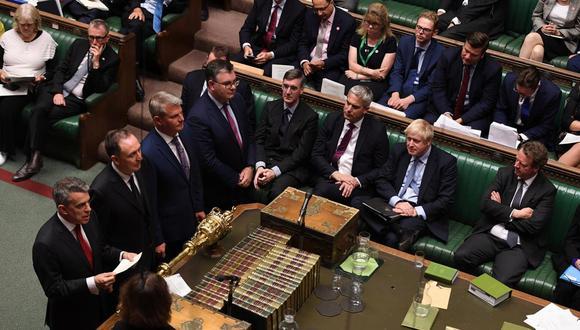 La Cámara de los Comunes durante la votación para la aprobación de la ley que paralice un Brexit sin acuerdo. (Foto: Reuters)