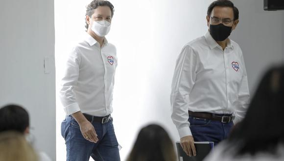 Daniel Salaverry también defendió a Martín Vizcarra de denuncias constitucionales en el Congreso por el caso 'Vacunagate'. (Foto: Miguel Yovera/ GEC)