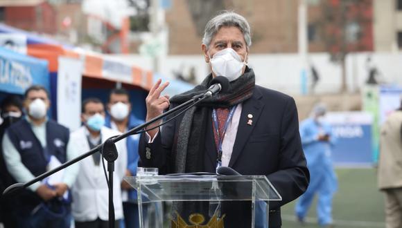 Presidente Sagasti supervió jornada de vacunación en estadio Campolo Alcalde de la Perla, en el Callao. (Foto: Britanie Arroyo/@photo.gec)