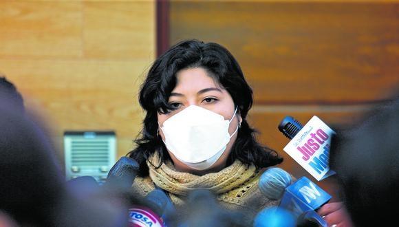 Betssy Chávez también es congresista por  Perú Libre. (Foto: GEC)