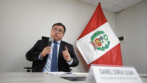 El procurador general Daniel Soria afirmó que la Procuraduría General siempre respaldó la labor de Amado Enco. (Foto: Mario Zapata)