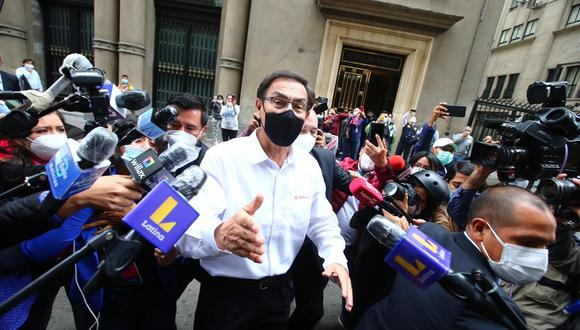 Martín Vizcarra fue vacado de la Presidencia de la República por el Congreso el pasado 9 de noviembre. (Foto: GEC)