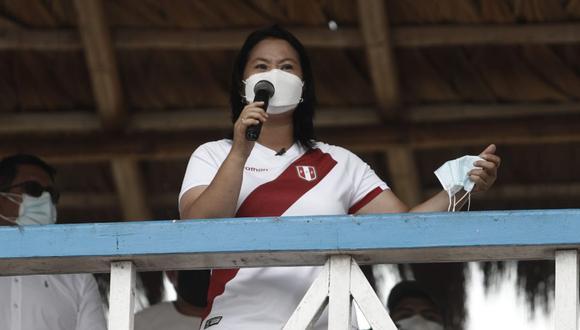 La candidata presidencial de Fuerza Popular, Keiko Fujimori. (Foto: César Campos / @photo.gec).