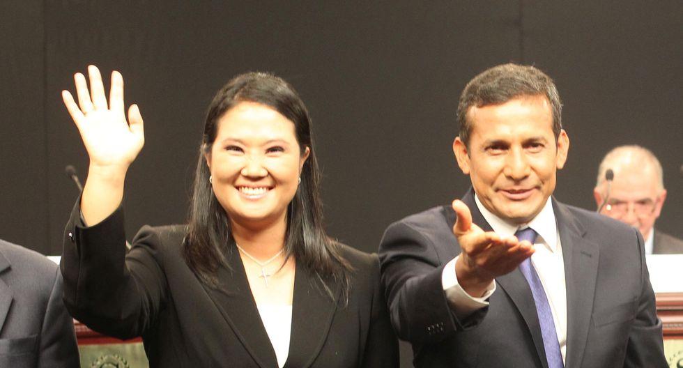 Ollanta Humala se impuso a Keiko Fujimori en la segunda vuelta de las elecciones presidenciales del 2011. (Foto: GEC)