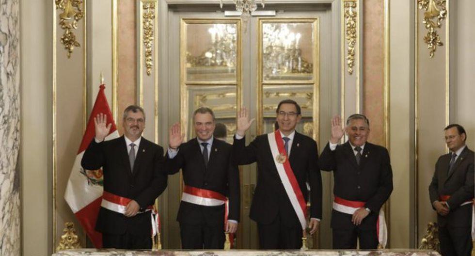 Presidente Martín Vizcarra tomó juramento hoy a los nuevos ministros de Defensa y de Cultura (Foto: GEC)