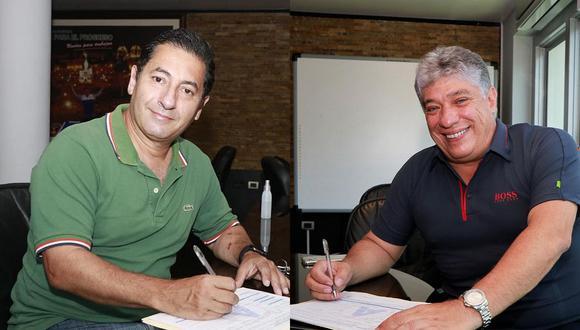 Salvador Heresi y Manuel Masías firmaron su afiliación al partido de César Acuña (Foto: APP)