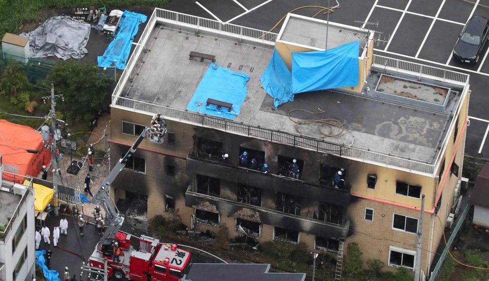 Japón: Así quedó el estudio de animación tras incendio que deja al menos 33 muertos. (Foto: EFE)