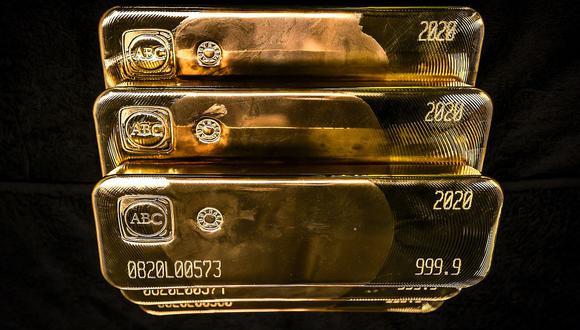 Los futuros del oro en Estados Unidos bajaban un 0.1% a US$ 1,854.80. (Foto: AFP)