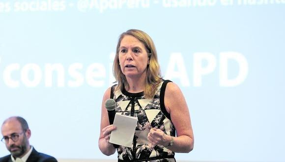 Elena Conterno, presidenta de IPAE Asociación Empresarial, exhortó al JNE que disipe las dudas de la ciudadanía. (Foto: GEC)