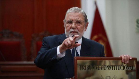 Ernesto Blume señaló que cambios en reforma constitucional no pueden ser cuestionados por el presidente de la República. (Foto: GEC)