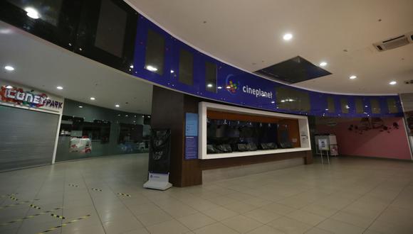 Cineplanet, cadena local junto a Cinemark reabre sus puertas. Solo queda saber si UVK volverá a operar (Foto: Mario Zapata / GEC)