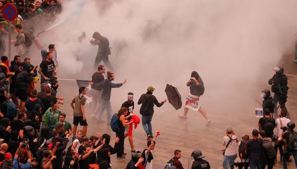 Un día después de los disturbios de la noche del martes, se prevén nuevas movilizaciones para la tarde del miércoles. (Foto: AFP)