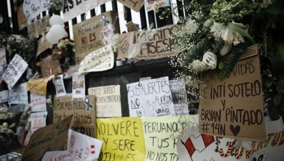Jack Brian Pintado e Inti Sotelo fallecieron el 14 de noviembre y ambos cuerpos presentaron más de 10 impactos de perdigones de plomo, según sus protocolos de necropsia. (Foto: GEC)