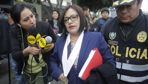 Fiscal Geovana Mori investiga por presunta colusión a la exprimera dama Nadine Heredia en el caso Gasoducto Sur. (Foto:  GEC)