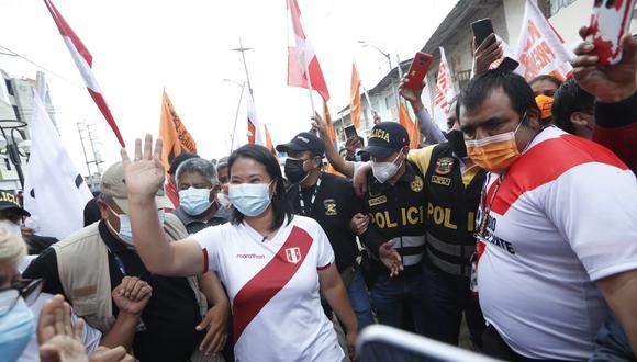La candidata Keiko Fujimori (Fuerza Popular) se disputará la presidencia de Perú junto a Pedro Castillo (Perú Libre) el próximo 6 de junio. (Foto: GEC)