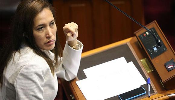 Paloma Noceda renunció a la bancada de Fuerza Popular por las decisiones del partido liderado por Keiko Fujimori. (Foto: Agencia Andina)